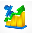 Chart icon percent vector image vector image