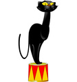 circus panther vector image vector image