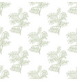 colored shrubbery sophora pattern in hand-drawn vector image vector image