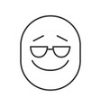 cool smile linear icon vector image