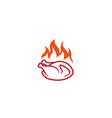 Creative hot chicken fire logo design symbol