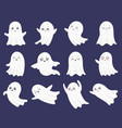 cute halloween ghosts frightened funny ghost vector image vector image