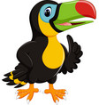 cute toucan cartoon vector image