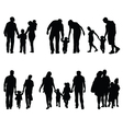 families in walking vector image vector image