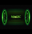 fantasy magic portal futuristic hologram teleport vector image vector image