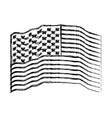 flag united states of america waving monochrome vector image vector image