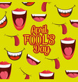 fools mouth pattern background vector image