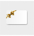 gift card golden bow isolated transparent vector image vector image