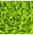 Green abstract radial textured geometric pattern vector image vector image