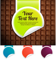 green label on a chocolate bar color variations vector image