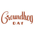 groundhog day text isolated on white lettering vector image vector image