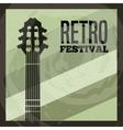 Guitar icon Retro and Music design vector image vector image