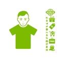 Guy Icon With Free Bonus vector image vector image