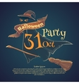 Happy Halloween Night party and disco vector image
