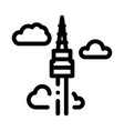 korean tower icon outline vector image vector image