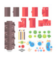 landscape elements - set of modern objects vector image