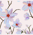 magnolia violet background seamless flower print vector image