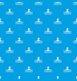 man with scuba pattern seamless blue vector image vector image