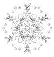 mandala easter vector image vector image