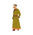 mongol man central asian character in traditional vector image vector image