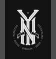 new york city emblem vintage style on a dark vector image vector image