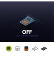 Off icon in different style vector image vector image
