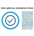 Ok Rounded Icon With Medical Bonus vector image vector image