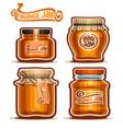 orange jam in glass jars vector image vector image