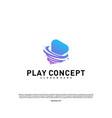 play tornado logo design concept fast play logo vector image vector image