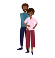 pregnant couple avatar vector image vector image