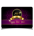 Purple new year celebrate card vector image