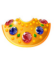 royal decoration on neck with rubies vector image vector image