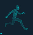running man polygonal design 3d model of man vector image vector image