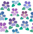 seamless pattern with violets without background vector image