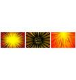 set 3 hyper speed warp sun rays or explosions vector image