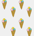 Set of sweet patterns Seamless backgrounds with vector image vector image
