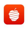 sliced apple icon digital red