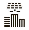 smart city solar energy icon glyph vector image vector image