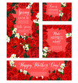 spring rose flower card for mother day holiday vector image vector image