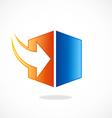 storage arrow download cube logo vector image vector image