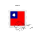 Taiwan Flag Postage Stamp vector image vector image