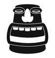 tiki idol head icon simple style vector image