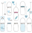 wedding mason jar collections vector image vector image