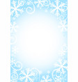 winter snow background vector image
