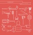 Barber or hairdresser accessories vector image