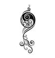 Ying yang decorative symbol vector image