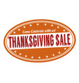 thanksgiving sale stamp vector image