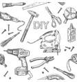 diy tools pattern vector image