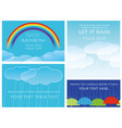 a set of four background vector image vector image