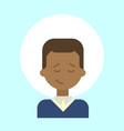 african american male emotion profile icon man vector image vector image